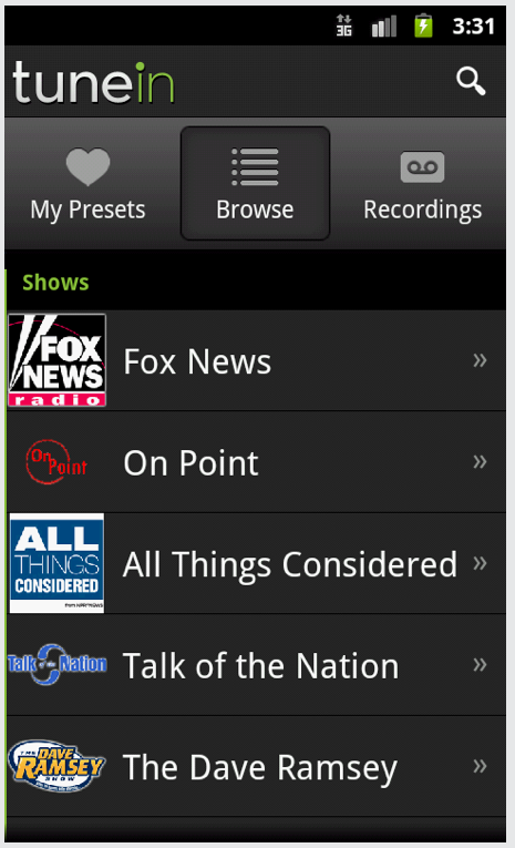 TuneIn Radio Pro - Now Free At Getjar For Android