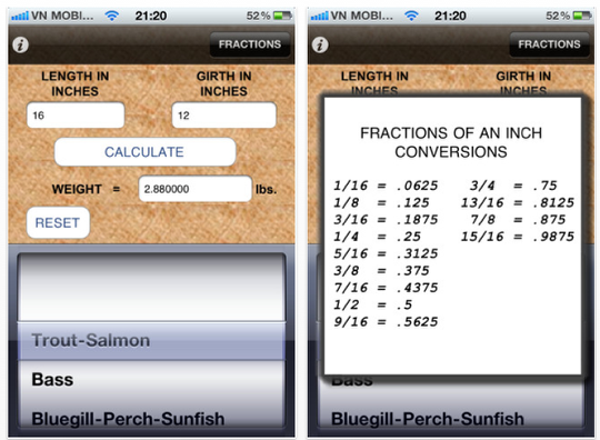 Daily app digest november 22 2011 theappwhisperer for Fish weight calculator