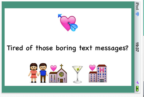 The Emoji Card app allows millions of iDevices' users who love to brighten