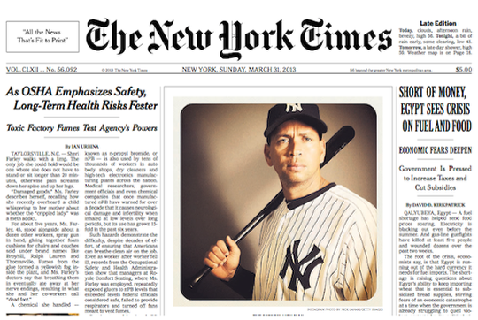Instagram Image Takes Front Page Of New York Times