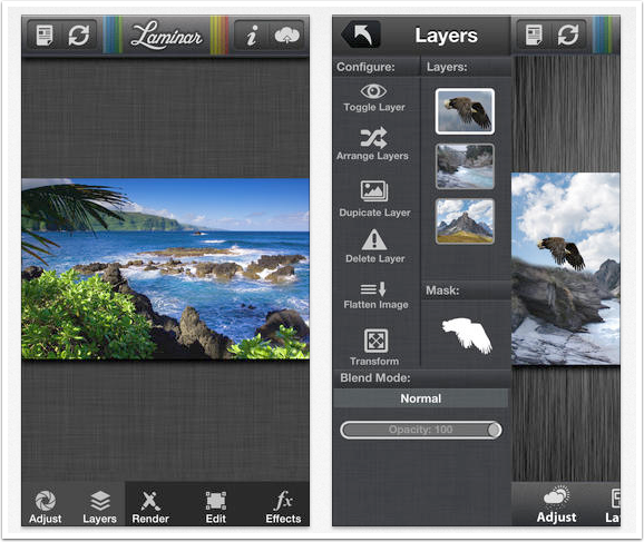 ios photography app laminar for iphone image editor