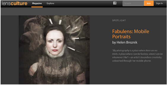 Latest LensCulture Article Published by Joanne Carter with Helen Breznik – Mobile Photography