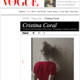 I'm so delighted to announce that the latest article to my Column with Vogue has just been published.  This time I interviewed the incredibly talented Cristina Coral, she's a huge […]