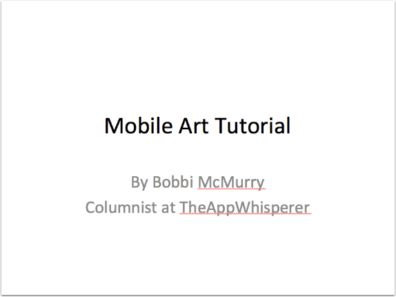 Joanne Carter – TheAppWhisperer Speaks at The Photography Show 2015 – Day 2 – Seminar 3 (Part 1 of 5) Mobile Art Tutorial by Bobbi McMurry - TheAppWhisperer