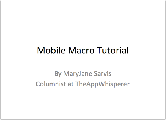 Joanne Carter – TheAppWhisperer Speaks at The Photography Show 2015 – Day 2 – Seminar 3 (Part 2 of 5) Mobile Macro Tutorial by MaryJane Sarvis