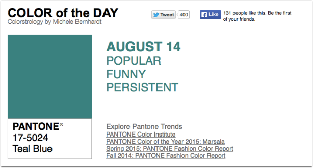 Kinder Garden: Pantone Color Of The Day