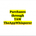 I published a post earlier this morning mentioning that you can help sustain TheAppWhisperer (TAW) by clicking on any links you might find within the site to make purchases. It […]