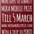 The organisers of the Mira Mobile Prize have extended the deadline for this fabulous competition to 5 March, 2016. This years theme is 'Connections', defined for this competition as 'all […]