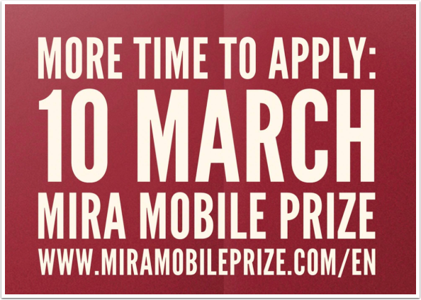 Mobile Photography / Art Competition – MIRA Mobile Prize – Deadline Extended