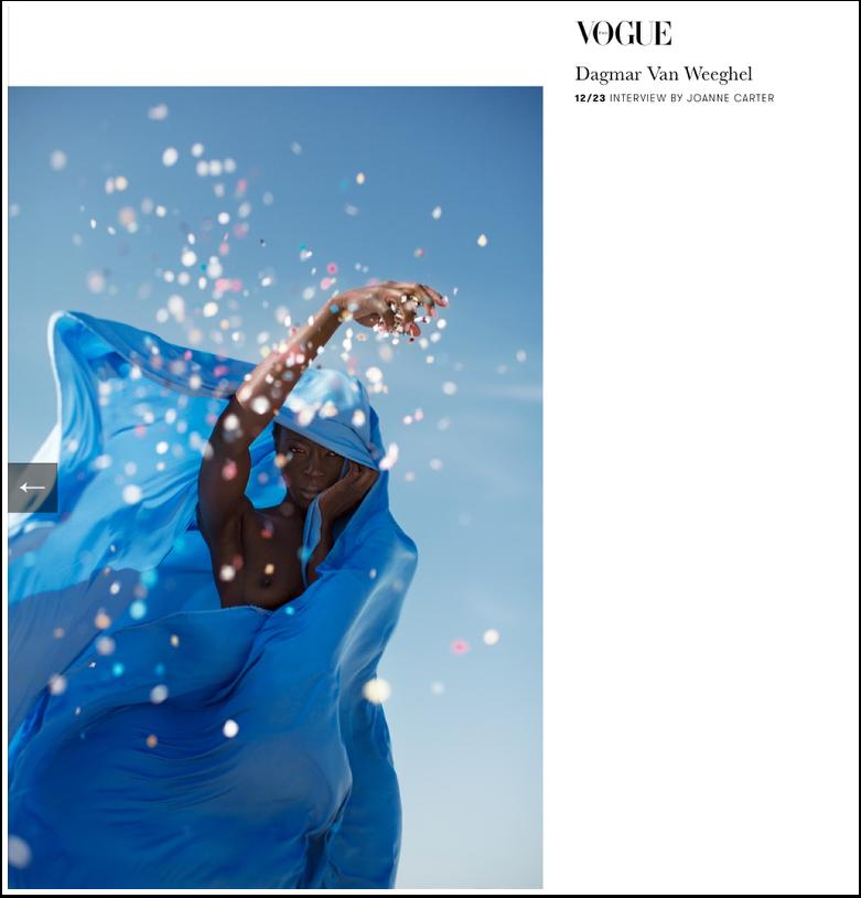 My Latest Vogue Column Interview Published with Photographer Dagmar Van Weeghel