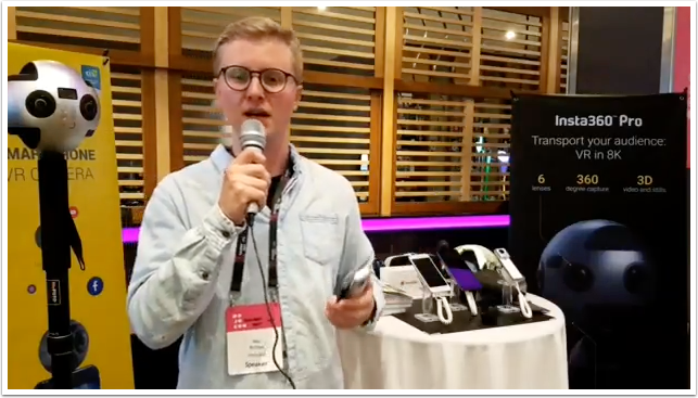 MoJo Conference – Exclusive Interview with Max Ritcher on Insta 360 Products by Tim Bingham