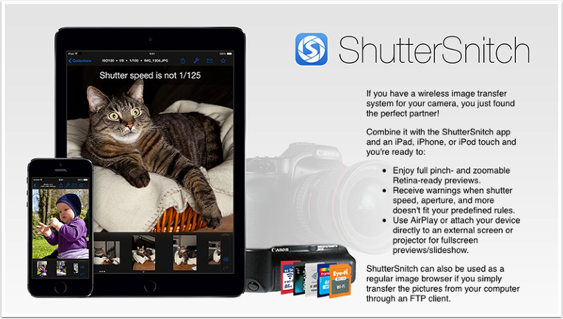 Mobile Photography – ShutterSnitch iOS Universal App Giveaway worth $18.99