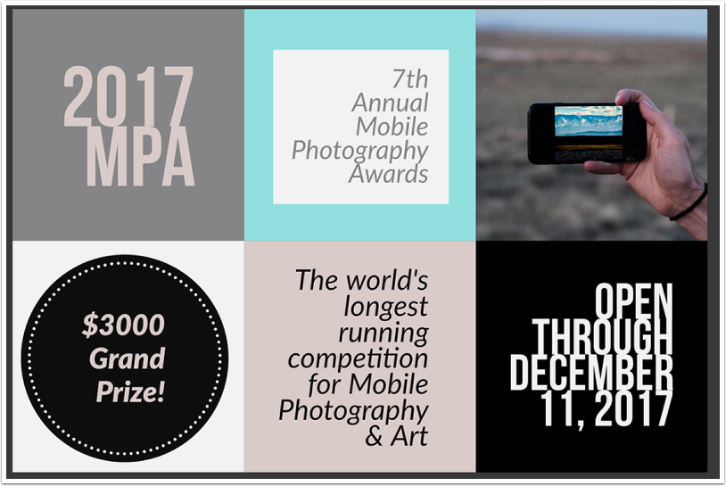 Mobile Photography Awards 2017 (MPA) Now Open for Submissions