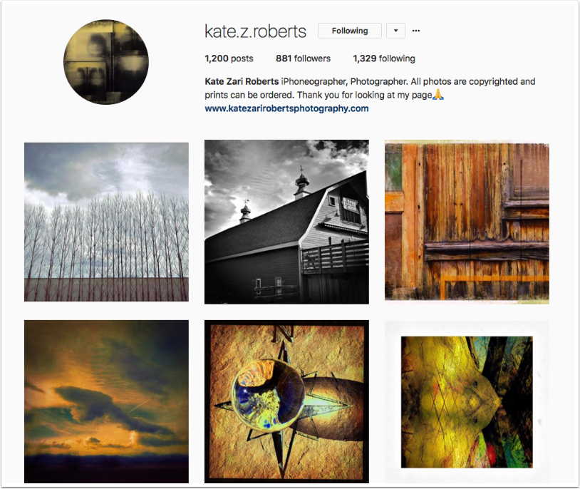 Mobile Photography – Instagram TAKEOVER with @kate.z.roberts – Kate Zari Roberts from the United States