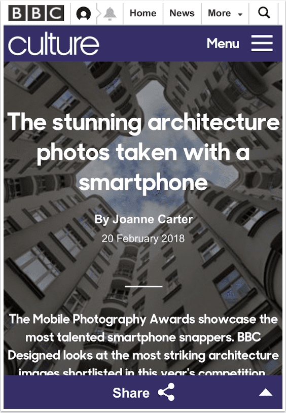BBC Culture – 'The Stunning Architecture Photos Taken with a Smartphone' by Me
