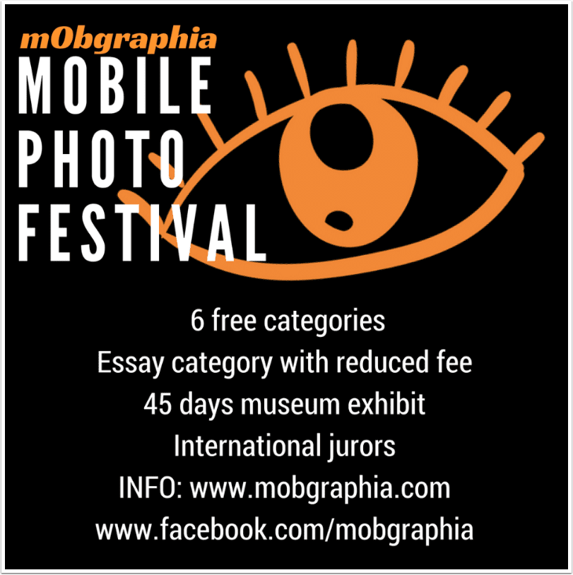 Mobile Photo Festival with mObgraphia – Free to Enter in Six Categories