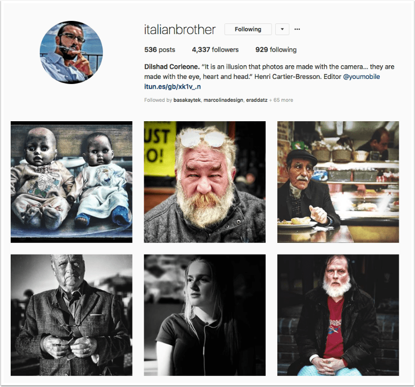Mobile Photography – Instagram TAKEOVER with Dilshad Corleone (@italianbrother) from the United Kingdom
