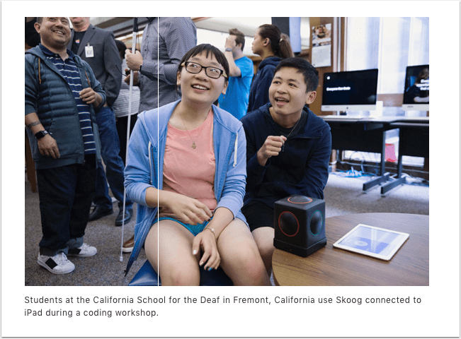 Apple brings Everyone Can Code to schools serving blind and deaf students nationwide