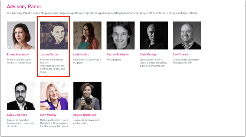 TheAppWhisperer Joins The Pink Lady Food Photographer of the Year Awards 2019, Advisory Panel!