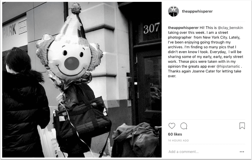 Instagram TakeOver with Street Photographer Clay Benskin, from New York City – Day 2