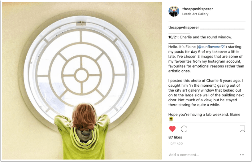 Instagram TAKEOVER with Elaine Taylor (@sunflowerof21)  – Days 4 – 7