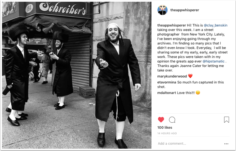 Instagram TakeOver with Street Photographer Clay Benskin, from New York City – Days 6 - 7 - TheAppWhisperer