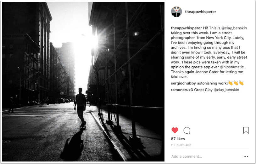 Instagram TakeOver with Street Photographer Clay Benskin, from New York City – Day 5