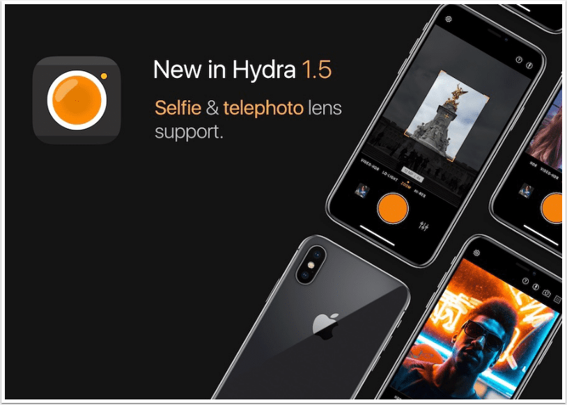 Mobile Photography App Hydra 1.5 Brings Support for the Telephoto and front cameras on iPhone – We Have Promotional Codes!