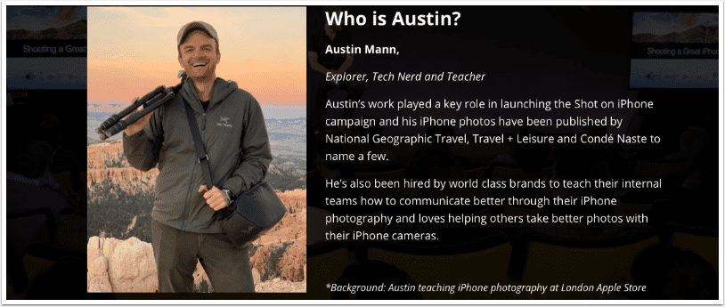 Mobile Photography Training – 'The Traveler's Guide to iPhone Photography'