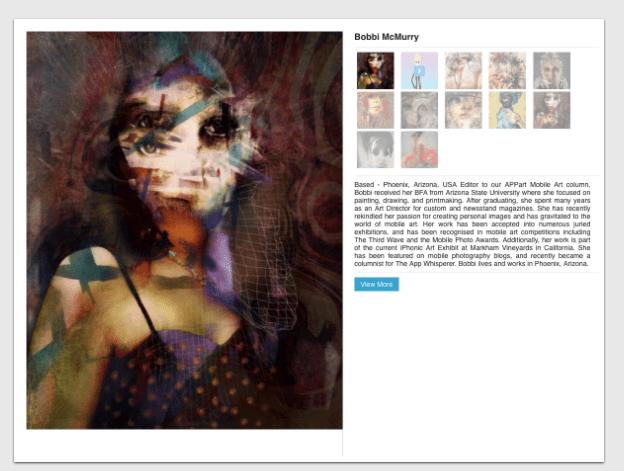 Mobile Artist Portfolio Profiles