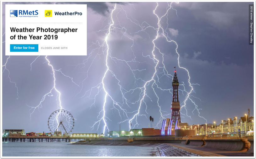 """Photography Competition – WeatherPro sponsors """"Weather Photographer of the Year 2019"""""""